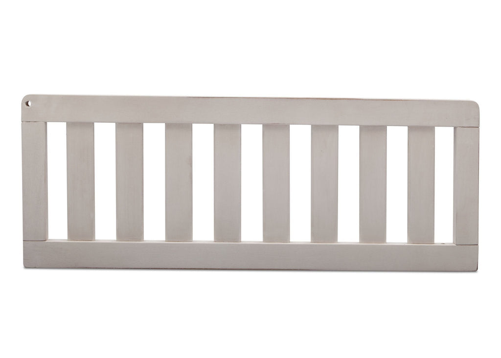 Simmons Kids Antique White (122) Toddler Guardrail (180125) front view d1d  for Ravello Convertible Crib 'N' More for Ravello Convertible Crib 'N' More