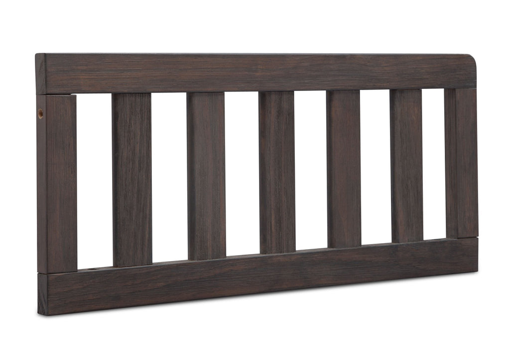 Simmons Kids Rustic Grey (084) Toddler Guardrail (180129), Angled View a1a for Monterey Crib 'N'More