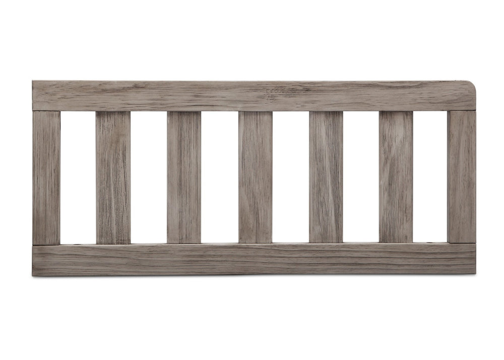 Simmons Kids Rustic White (119) Toddler Guardrail (180129), Front View b2b