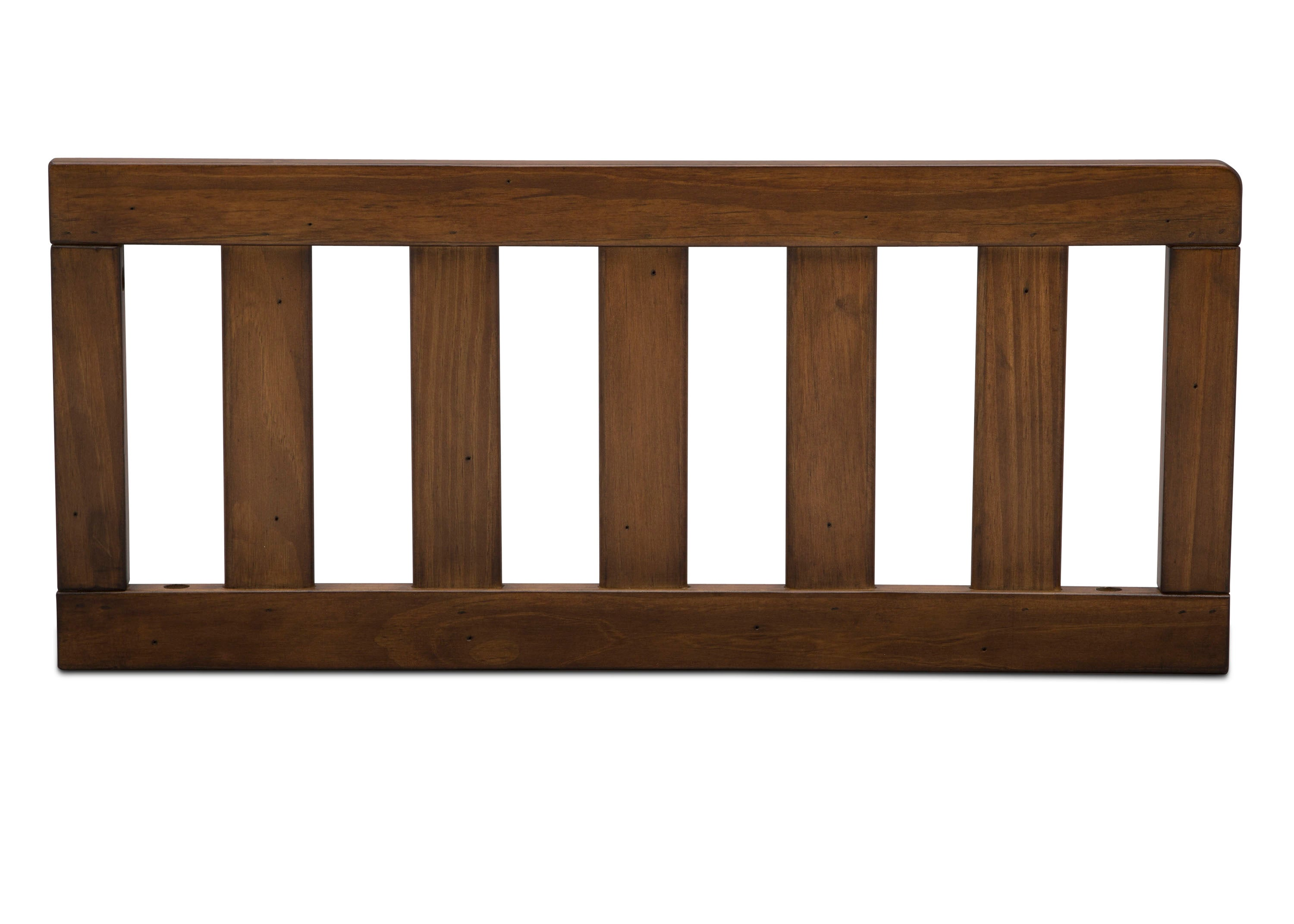 Delta Children Antique Chestnut (2100) Toddler Guardrail (180130) Front Silo, c1c for Bedford 4-in-1 Convertible Crib