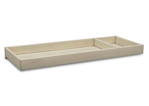 Simmons Kids Antique White (122) Deluxe Changing Tray, Angled View c2c