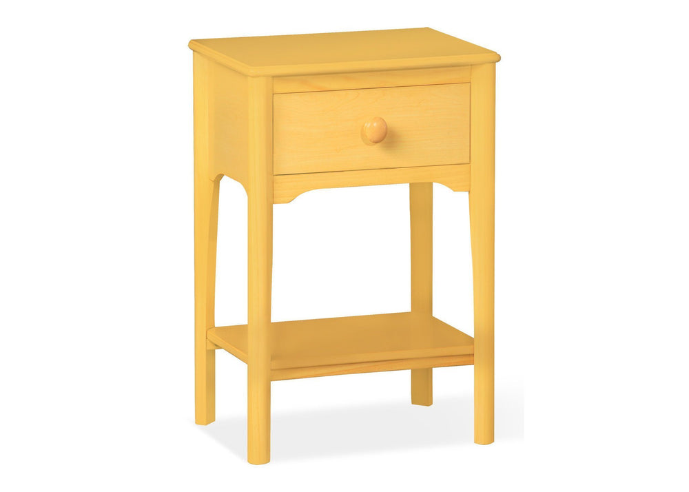 Delta Children Natural (260) Solutions Nightstand Side View b2b