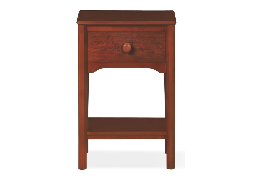 Delta Children Dark Cherry (604) Solutions Nightstand Front View c1c