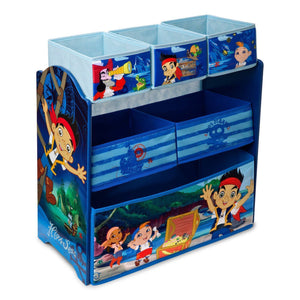Delta Children Jake and the Neverland Pirates Multi-Bin Toy Organizer Right Side View a1a