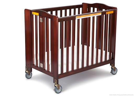 Simmons Kids Black Cherry Espresso (607) Foldaway Crib b1b