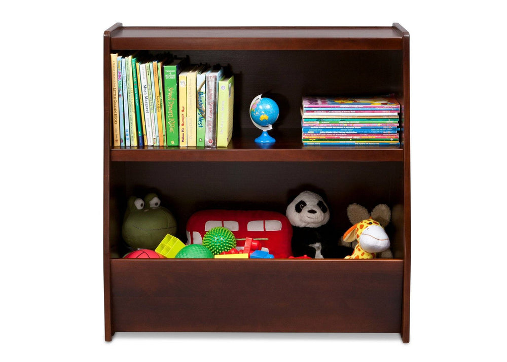Delta Children Espresso (607) Wood Storage Unit Front View with Props a2a