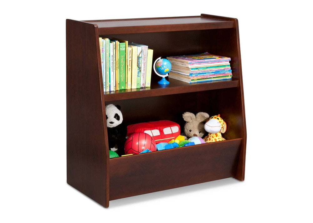 Delta Children Espresso (607) Wood Storage Unit Right Side View with Props
