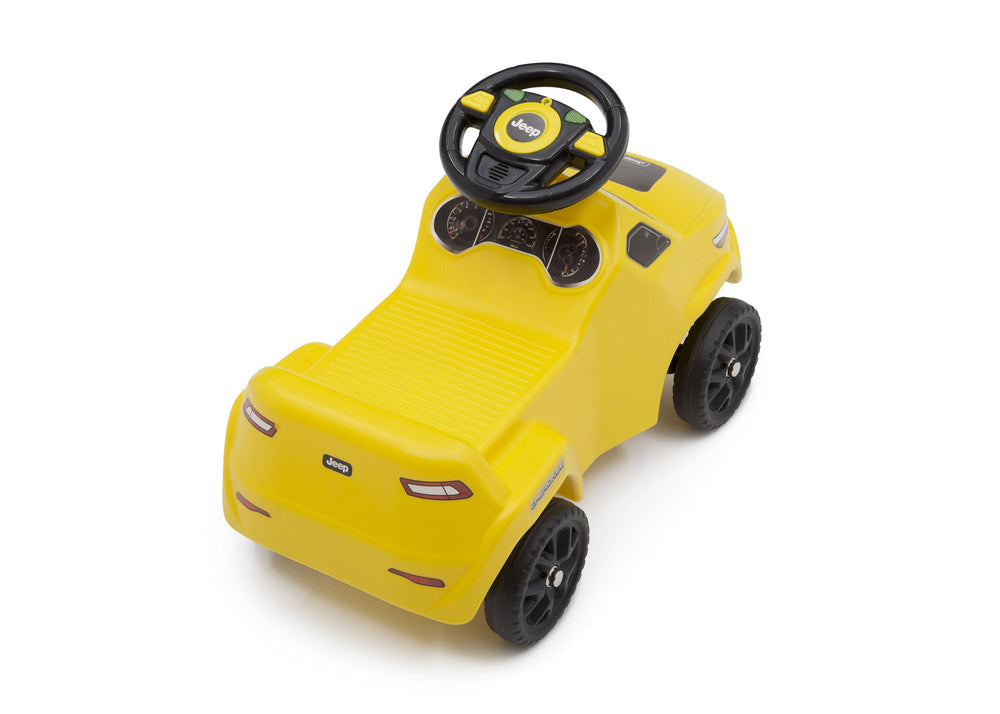 Delta Children Yellow (2314) Cherokee Ride-on Push Car (22308), Top Back View c7c