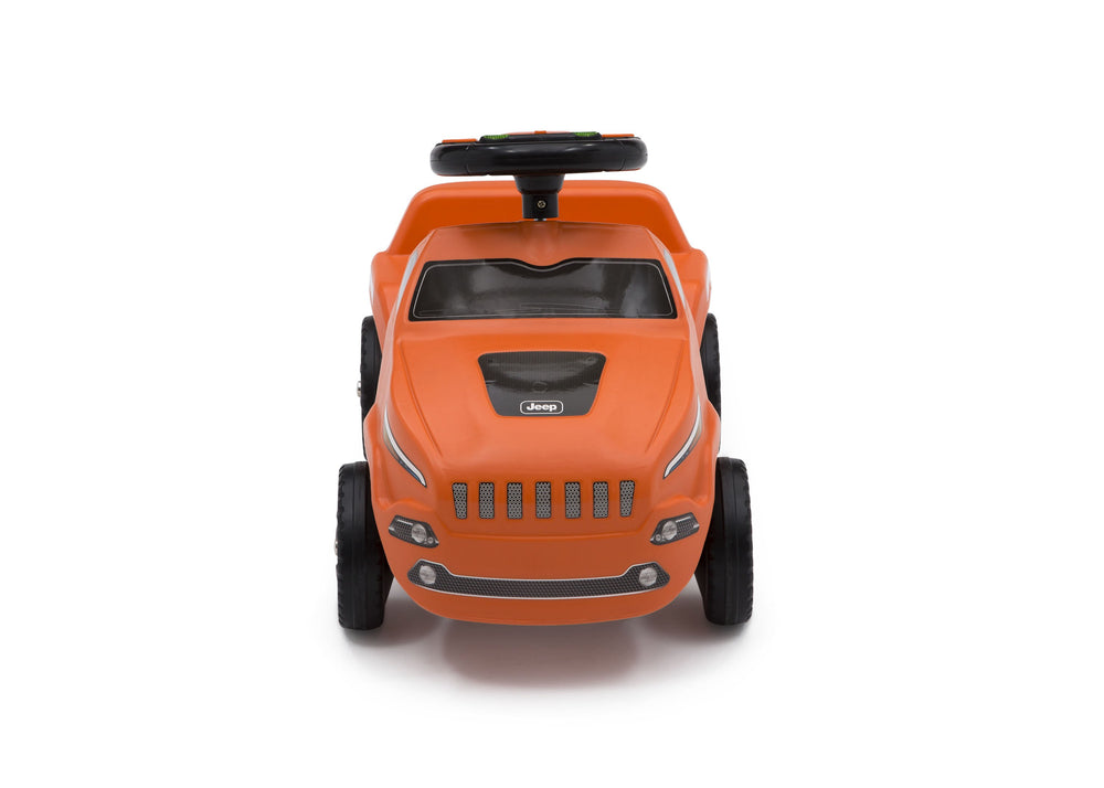 Delta Children Orange (865) Cherokee Ride-on Push Car (22308), Front View with Model a4a