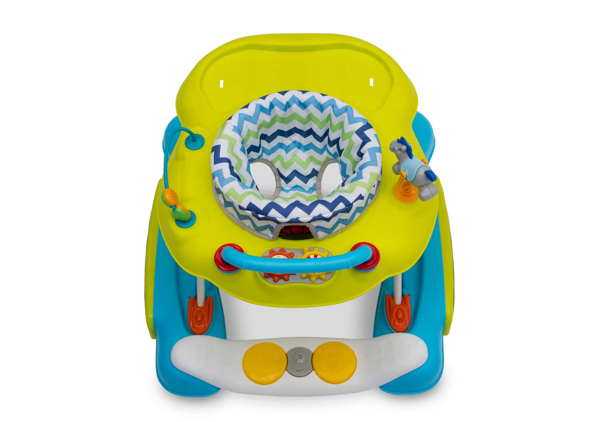 Delta Children Blue/Green (2163) 4-in-1 Discover & Play Musical Walker, Top Silo View