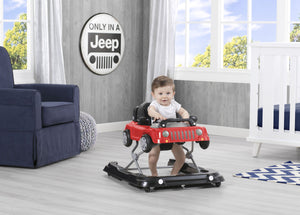 J is for Jeep Red (2312) Classic Wrangler 3-in-1 Activity Walker (22408), Hangtag with baby, b1b