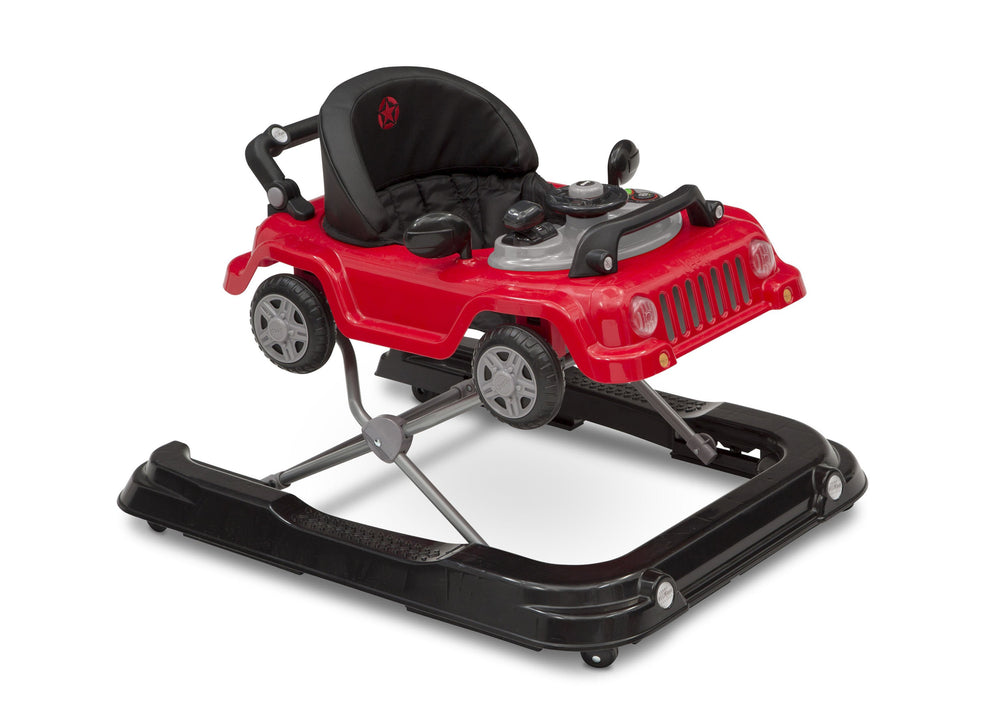 J is for Jeep Red (2312) Classic Wrangler 3-in-1 Activity Walker (22408), Angled Silo, b3b