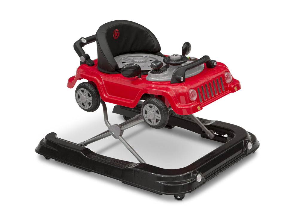 J is for Jeep Red (2312) Classic Wrangler 3-in-1 Activity Walker (22408), Angled with Top, b4b