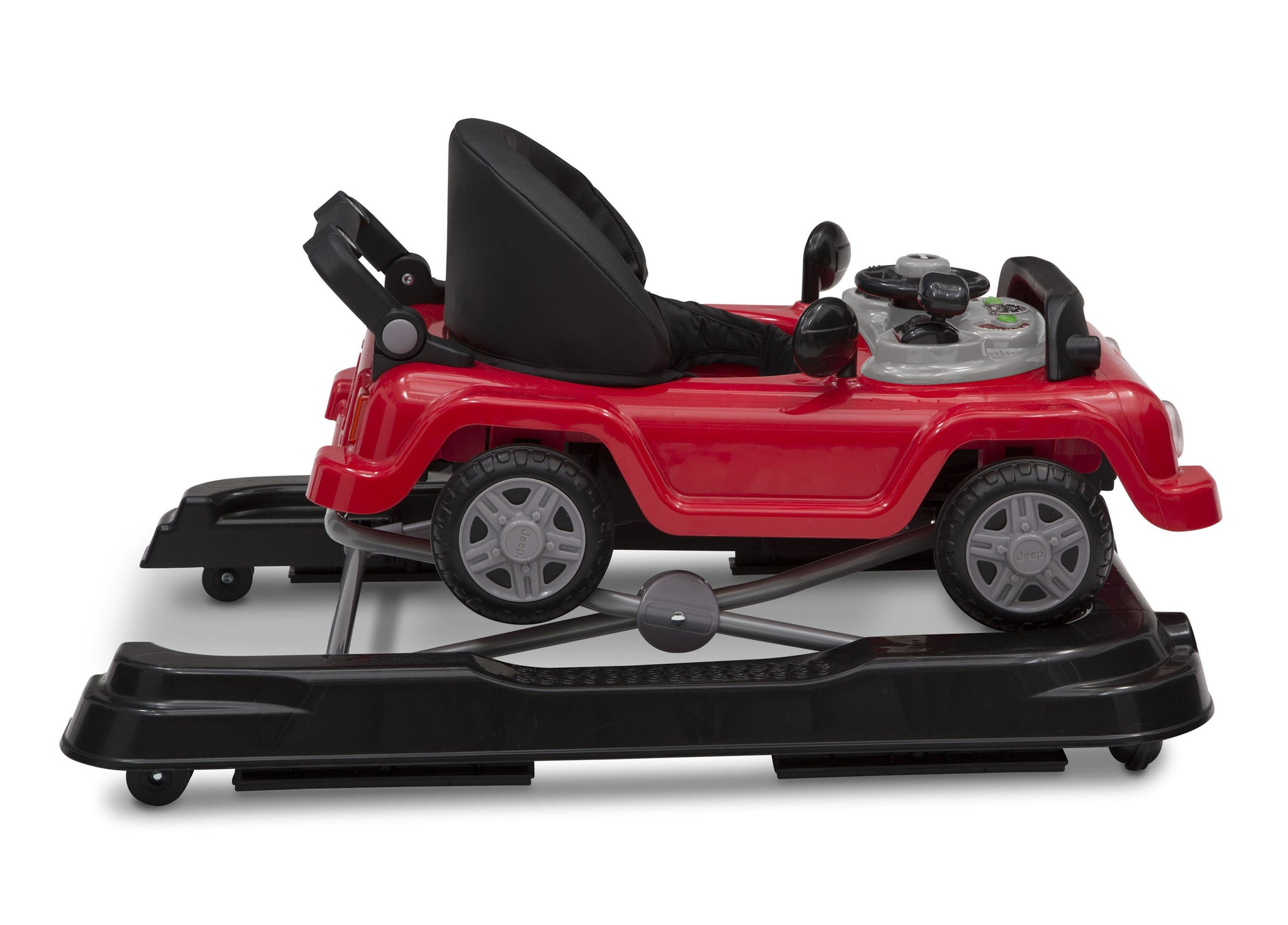 Jeep® Classic Wrangler 3-in-1 Activity Walker Red (2312), Closed Side View