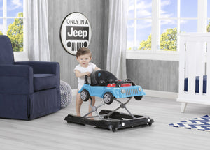 J is for Jeep Blue (2315) Classic Wrangler 3-in-1 Activity Walker (22408), Hangtag with baby standing, c2c