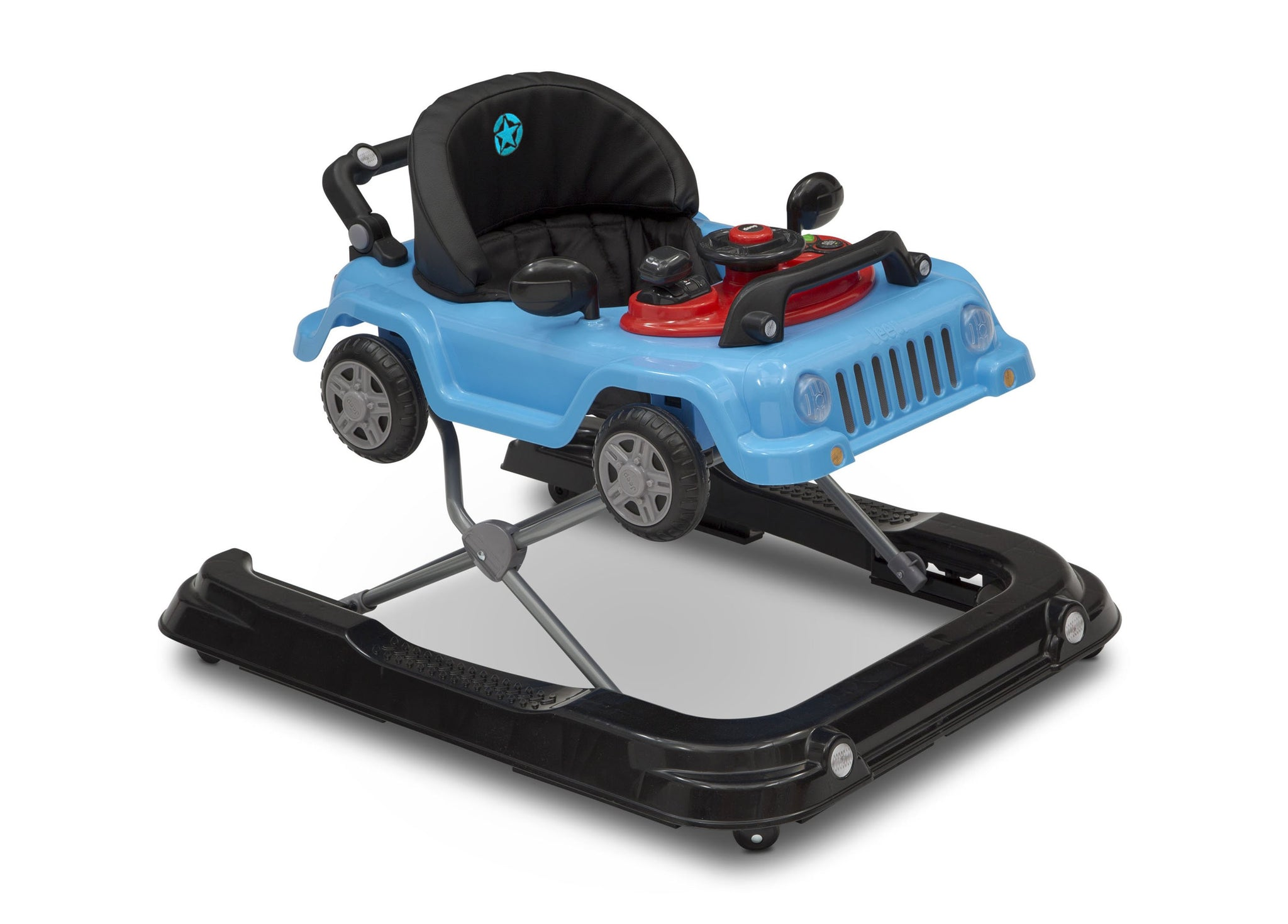 Jeep® Classic Wrangler 3-in-1 Activity Walker Blue (2315), Side View