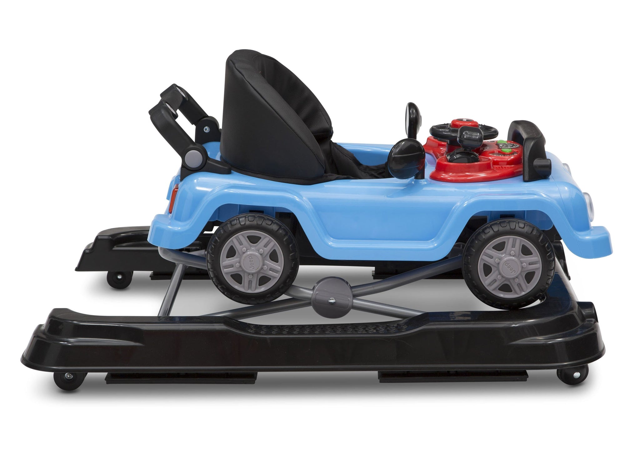 Jeep® Classic Wrangler 3-in-1 Activity Walker Blue (2315), Closed side View