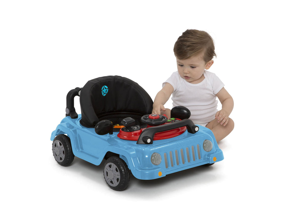 J is for Jeep Blue (2315) Classic Wrangler 3-in-1 Activity Walker (22408), Silo with baby playing, c8c