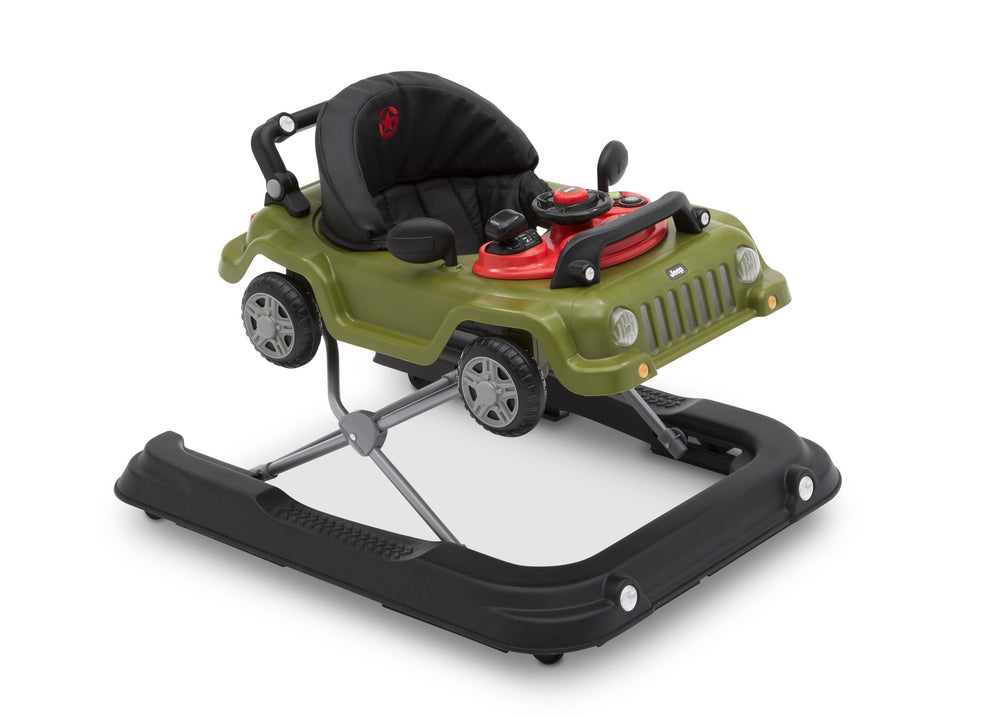 J is for Jeep Anniversary Green (348) Classic Wrangler 3-in-1 Activity Walker (22408), Angled, a3a