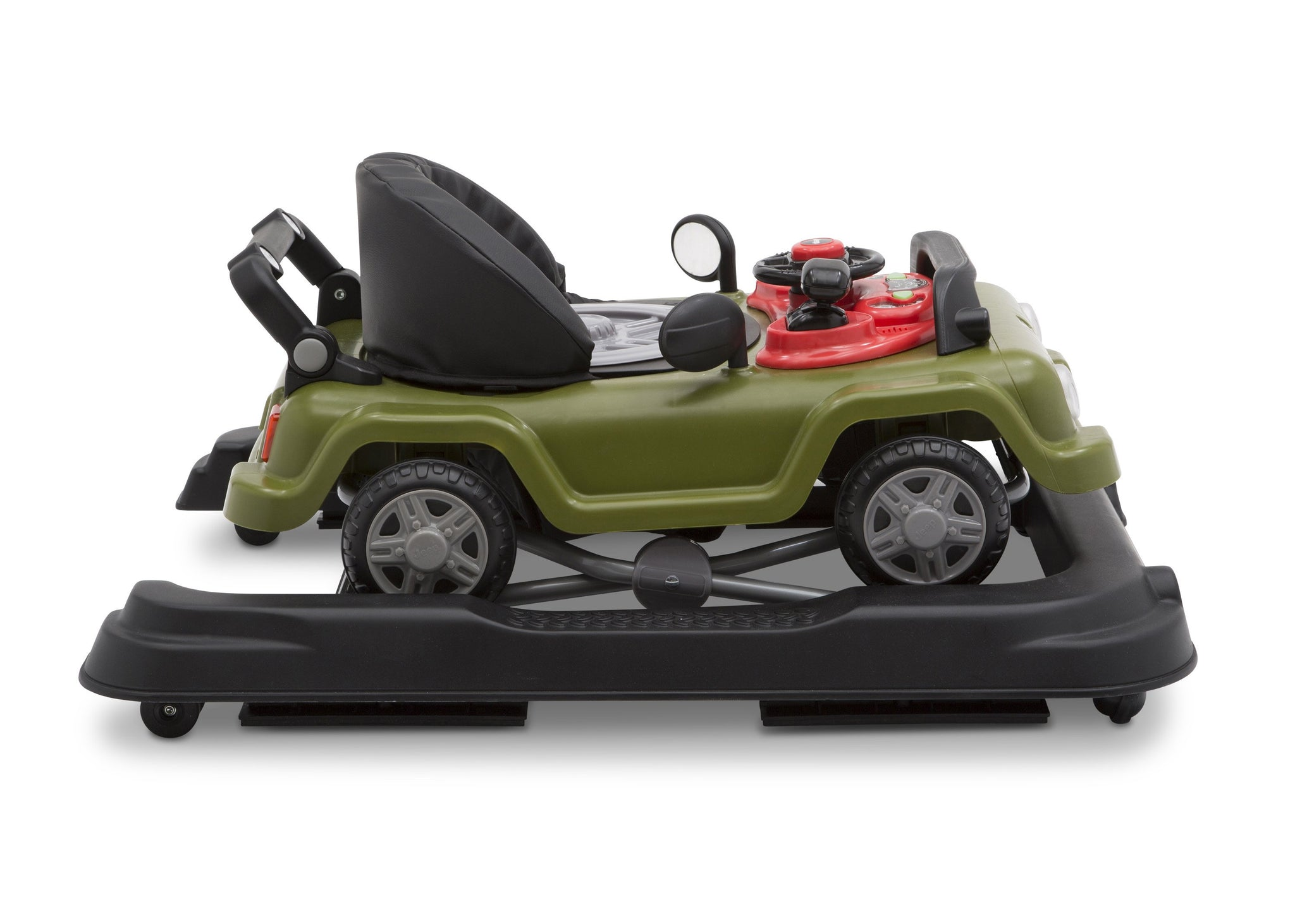 Jeep® Classic Wrangler 3-in-1 Activity Walker Anniversary Green (348), Closed Side View