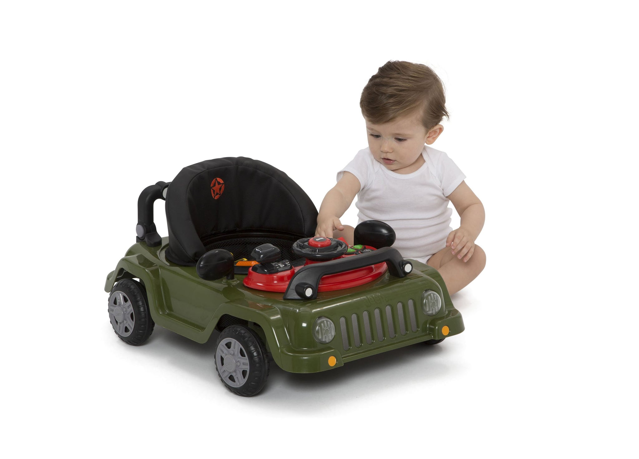 J is for Jeep Anniversary Green (348) Classic Wrangler 3-in-1 Activity Walker (22408),  Baby Silo, a8a