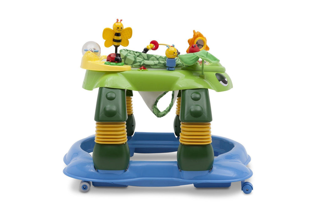 Delta Children Mason the Turtle (365) Lil Play Station II 3-in-1 Activity Center, Side View d2d