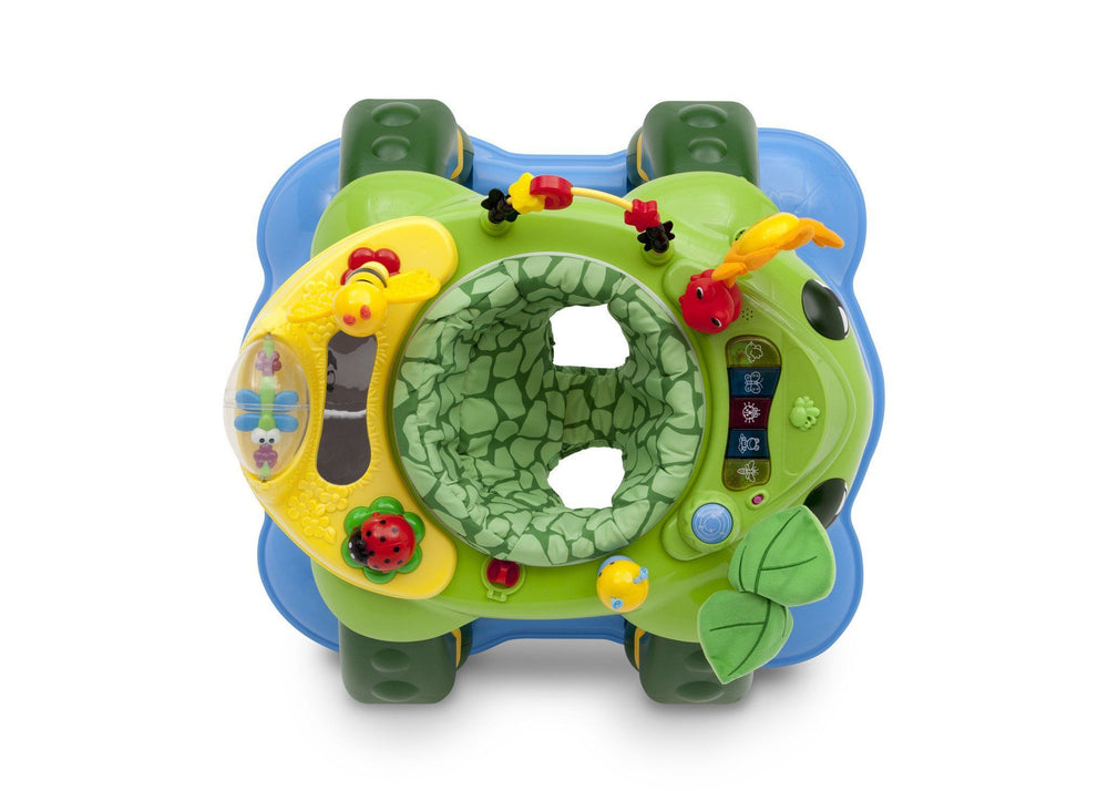 Delta Children Mason the Turtle (365) Lil Play Station II 3-in-1 Activity Center, Top View d3d