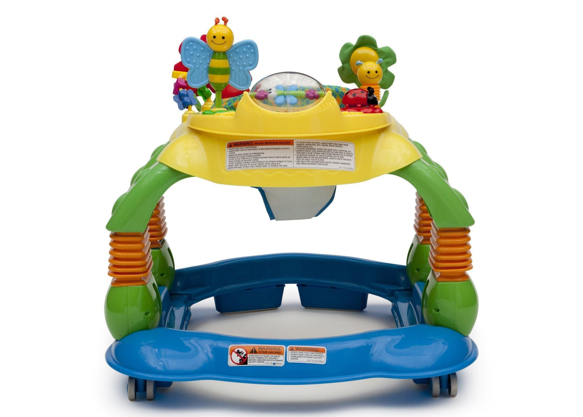 Delta Children Grid Lock (387) Lil Play Station II 3-in-1 Activity Center, Full Side View a4a
