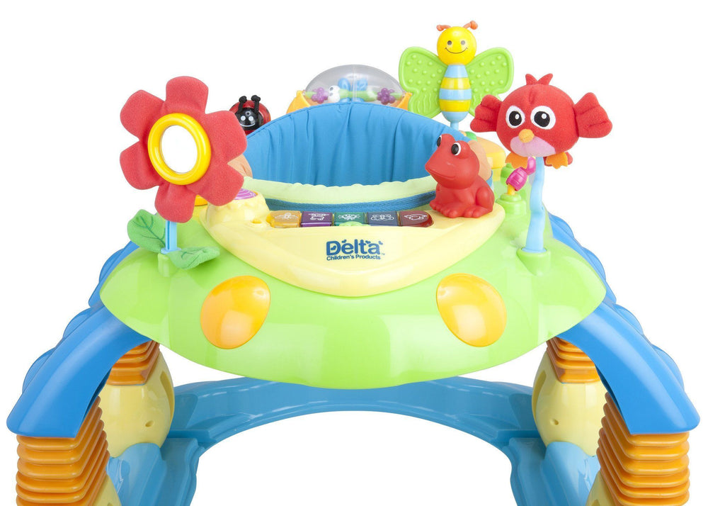 Delta Children Blue Walker (456) Lil Play Station II 3-in-1 Activity Center, Front View Detail