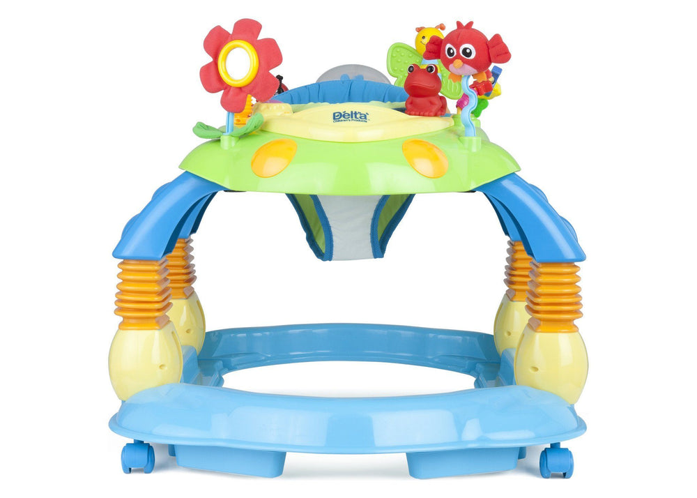Delta Children Blue Walker (456) Lil Play Station II 3-in-1 Activity Center, Front View b3b