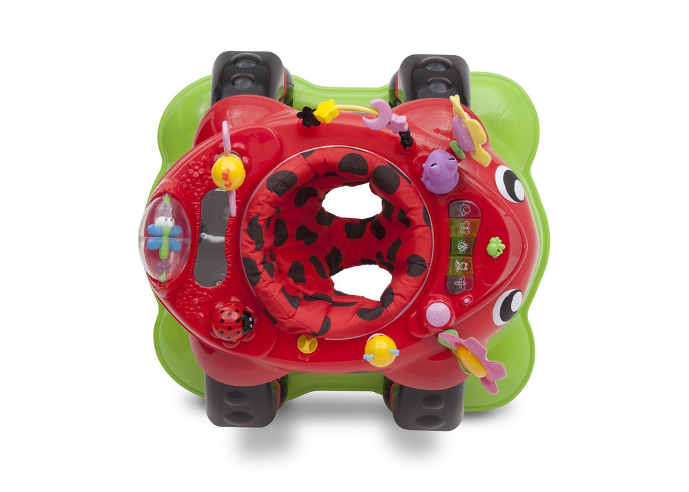 Delta Children Sadie the Ladybug (559) Lil Play Station II 3-in-1 Activity Center, Top View e3e