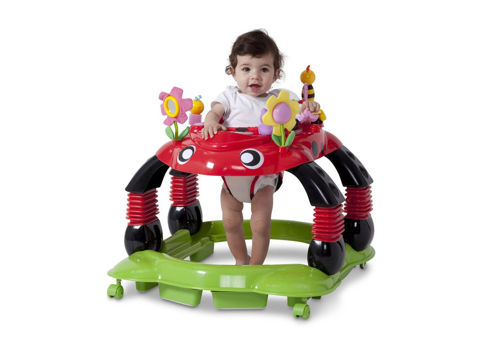 Delta Children Sadie the Ladybug (559) Lil Play Station II 3-in-1 Activity Center, Baby View e4e
