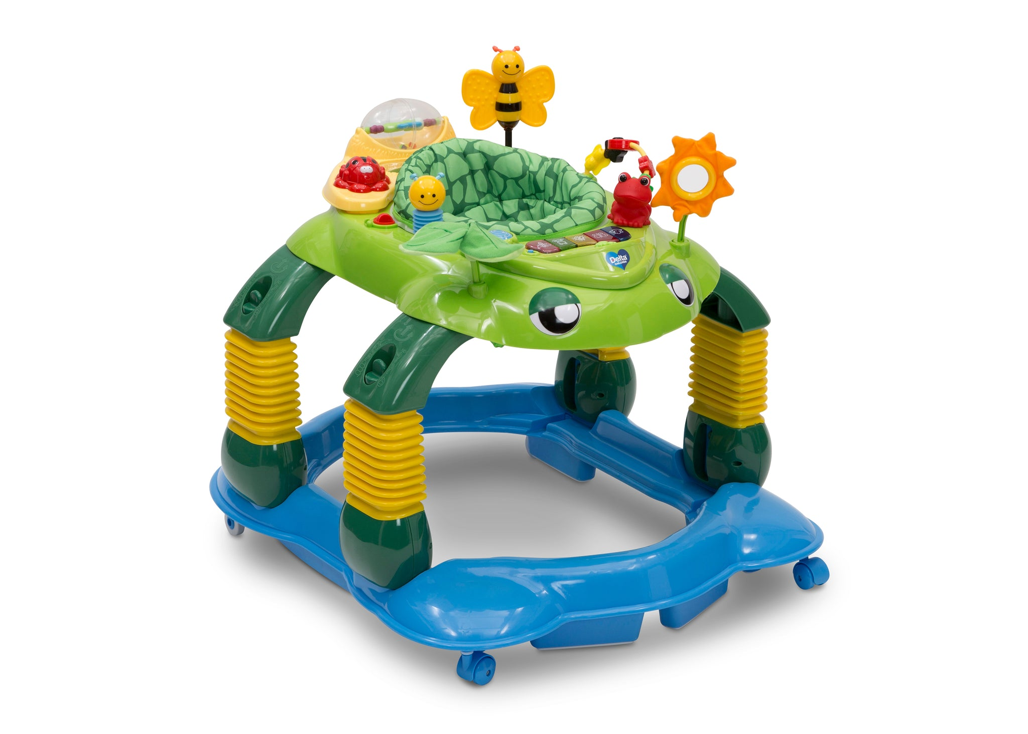 Delta Children Mason the Turtle (365) Lil' Play Station 4-in-1 Activity Walker Right Silo View