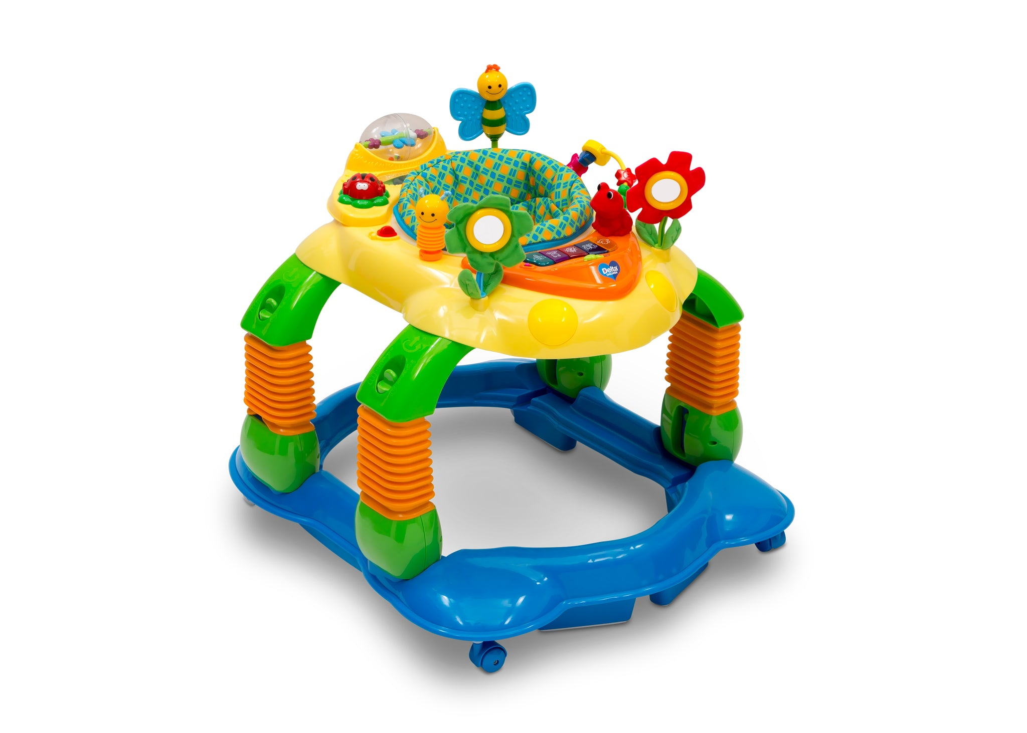 Delta Children Gridlock (387) Lil' Play Station 4-in-1 Activity Walker Right Silo View