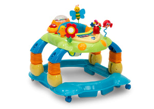 Delta Children Blue Walker (456) Lil' Play Station 4-in-1 Activity Walker Right Silo View