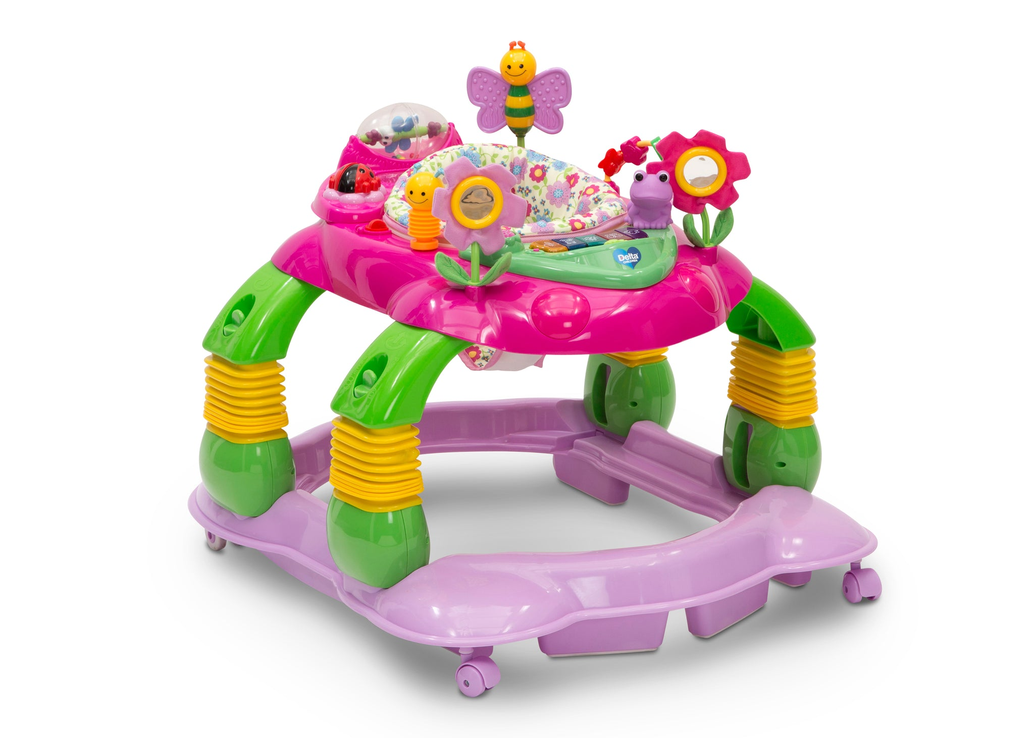 Delta Children Floral Garden (651) Lil' Play Station 4-in-1 Activity Walker Right Silo View