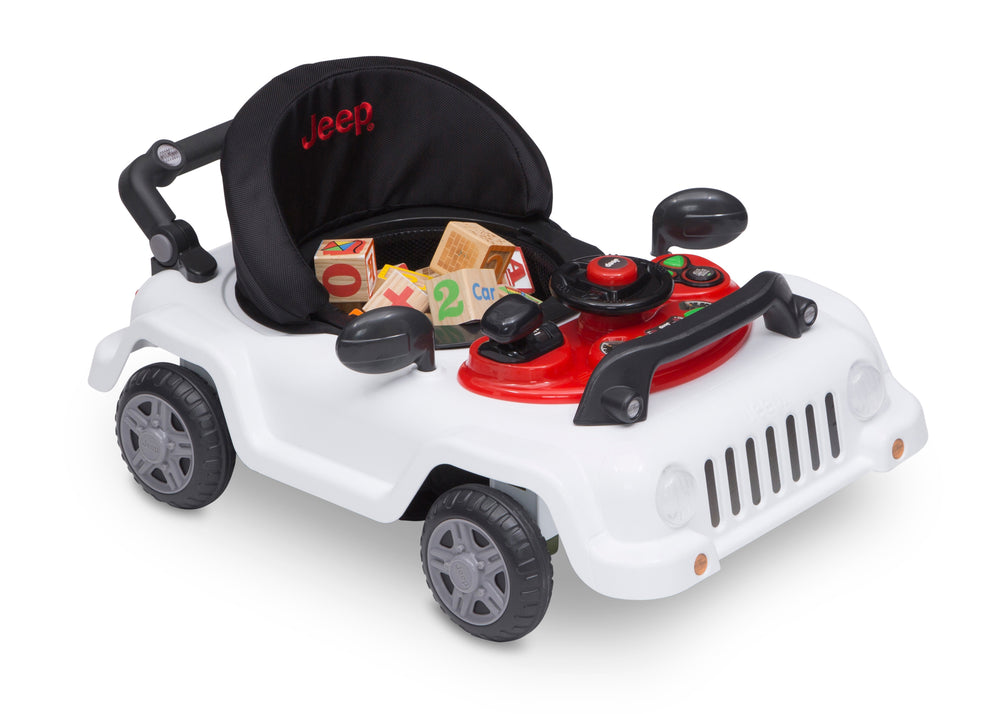 Jeep® Classic Wrangler 3-in-1 Grow With Me Walker White (100) Low Right Silo View
