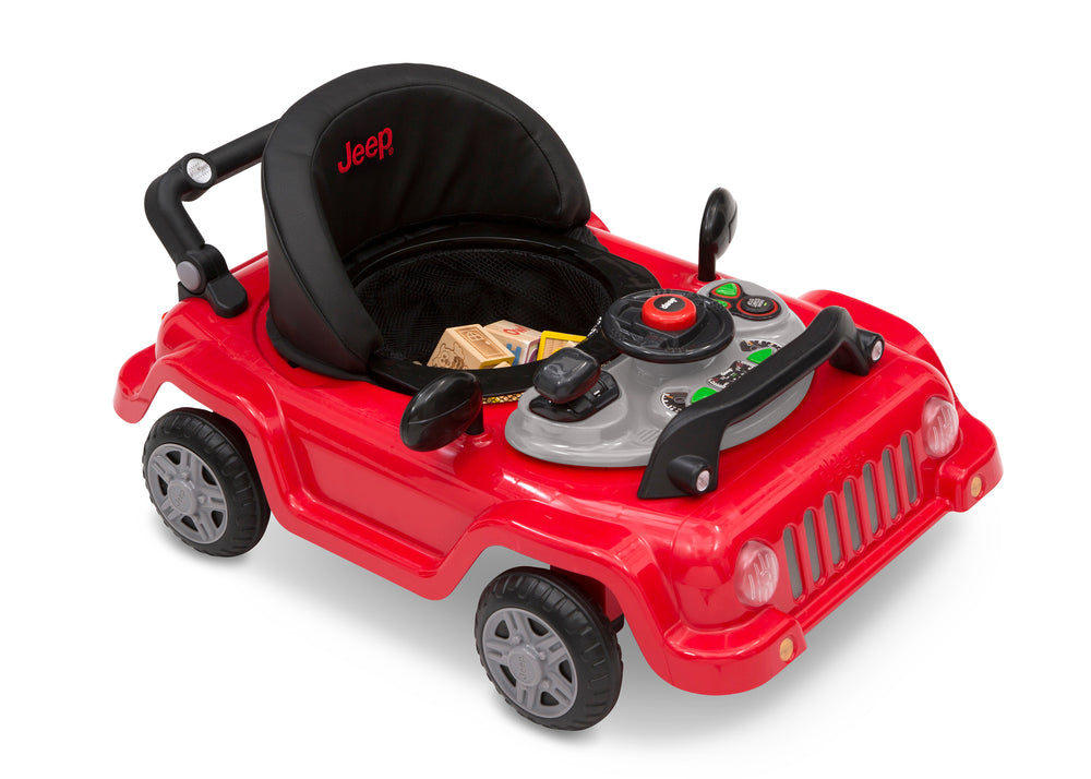 Jeep® Classic Wrangler 3-in-1 Grow With Me Walker Red (2312) Right Silo Car View