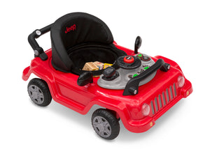 Jeep® Classic Wrangler 3-in-1 Grow With Me Walker, Anniversary Red (2312), Toy tray requires 2 AA batteries