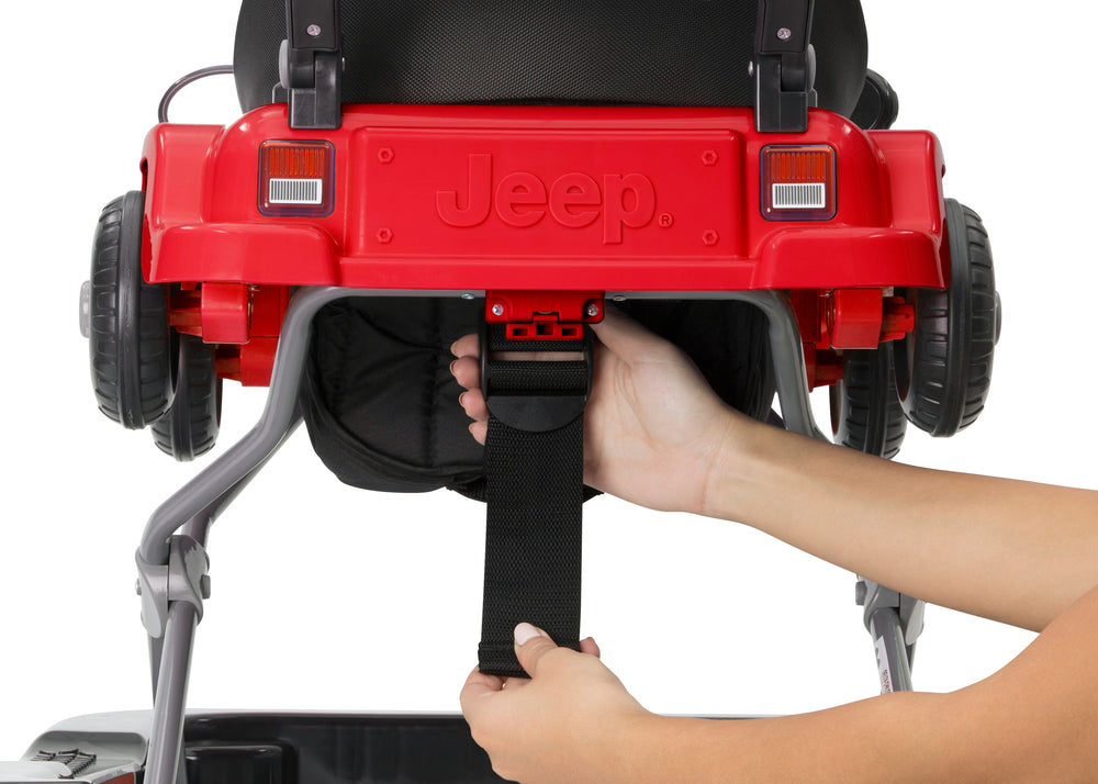 Jeep® Classic Wrangler 3-in-1 Grow With Me Walker Red (2312) Rear Detail View