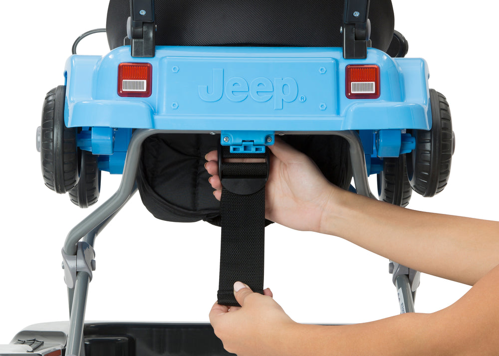 Jeep® Classic Wrangler 3-in-1 Grow With Me Walker Blue (2315) Rear Detail View