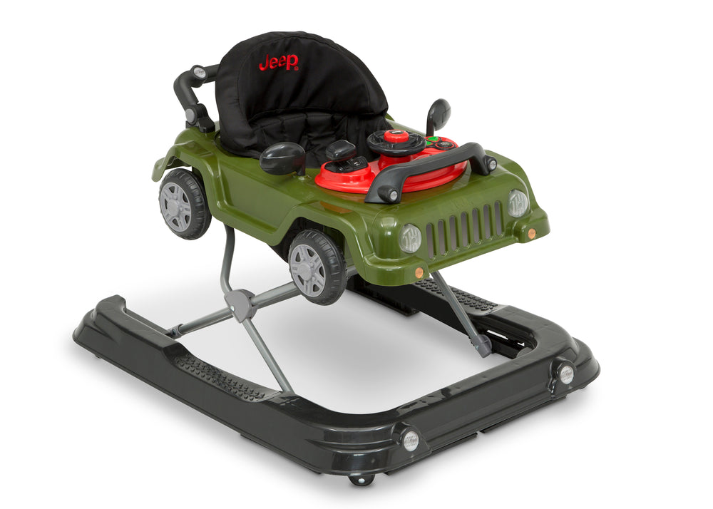 Jeep® Classic Wrangler 3-in-1 Grow With Me Walker Anniversary Green (348) Right Silo View