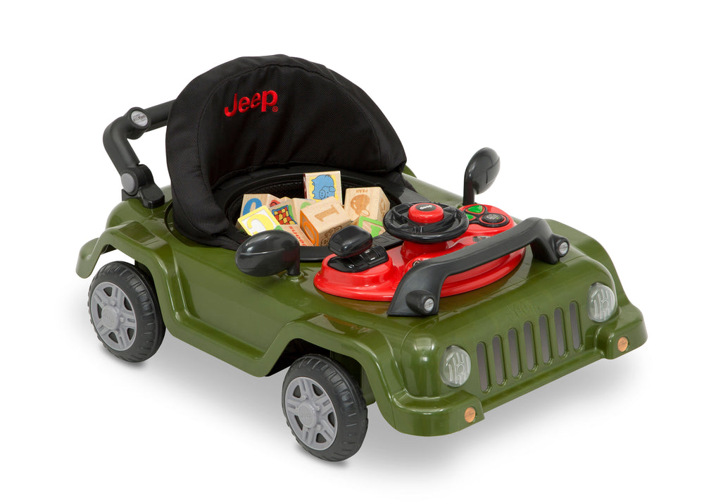 Jeep® Classic Wrangler 3-in-1 Grow With Me Walker Anniversary Green (348) Right Car Silo View