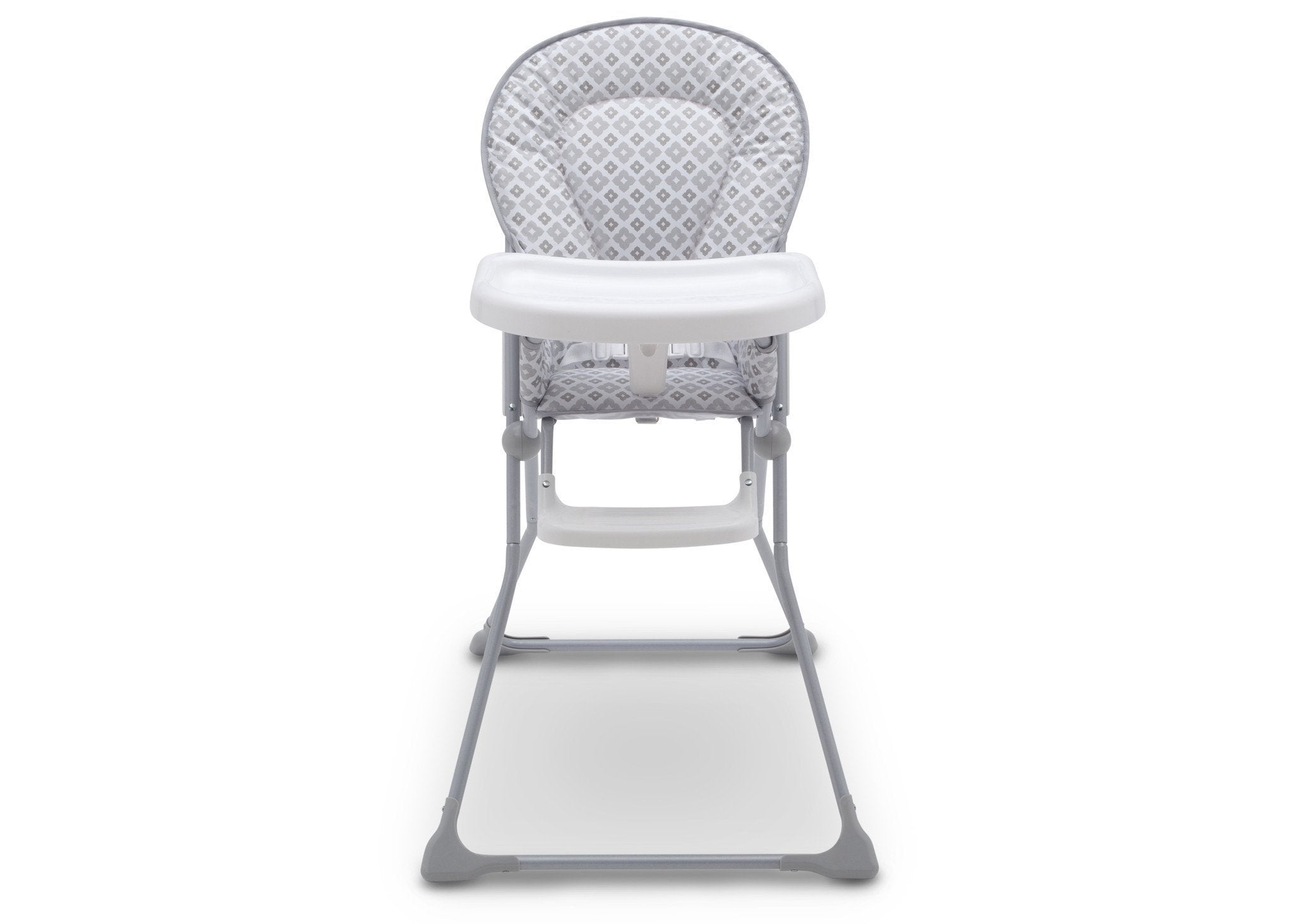 Delta Children EZ Fold High Chair Glacier (2069) Front View, b6b