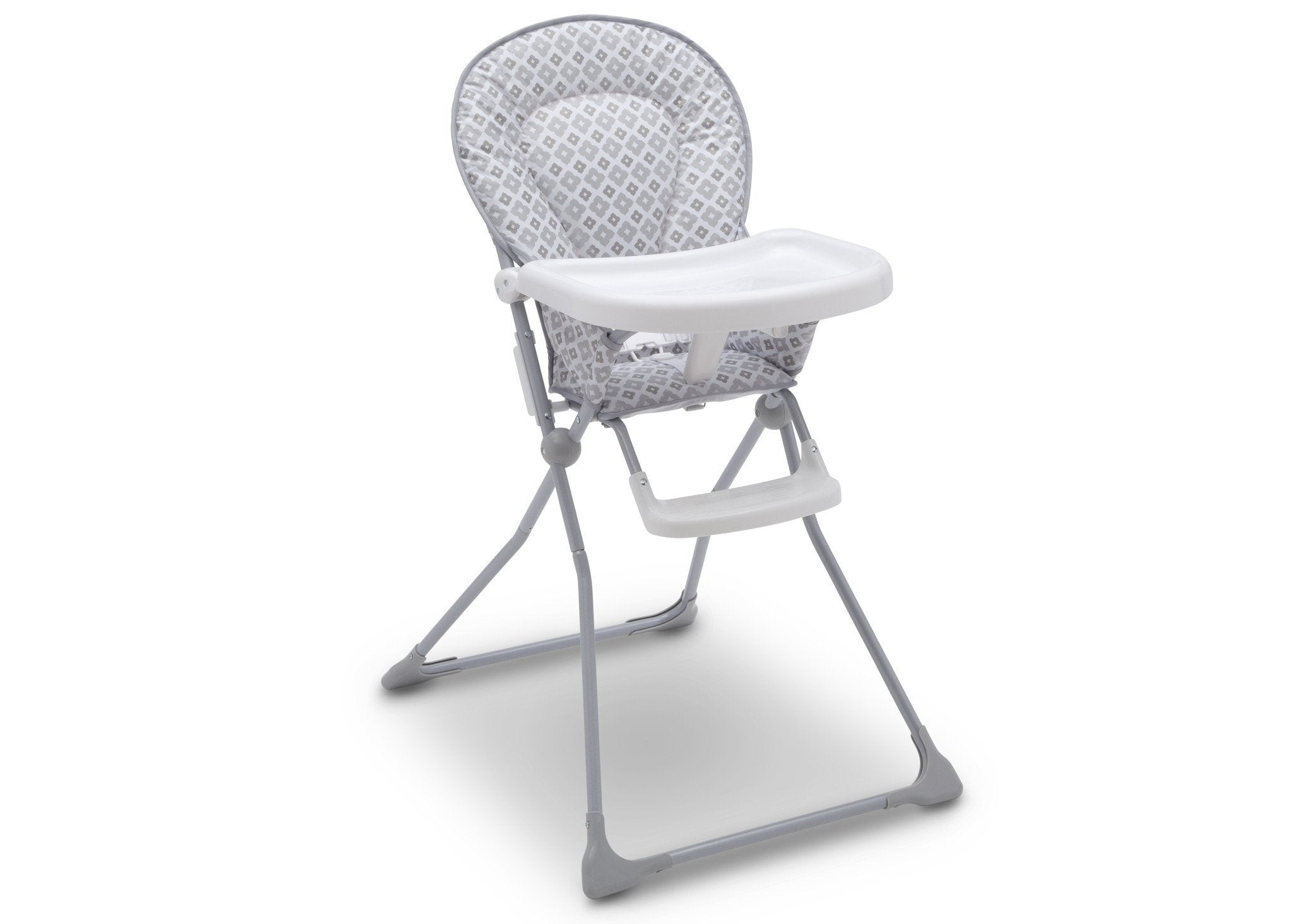 Delta Children EZ Fold High Chair Glacier (2069) Right Angle, b2b