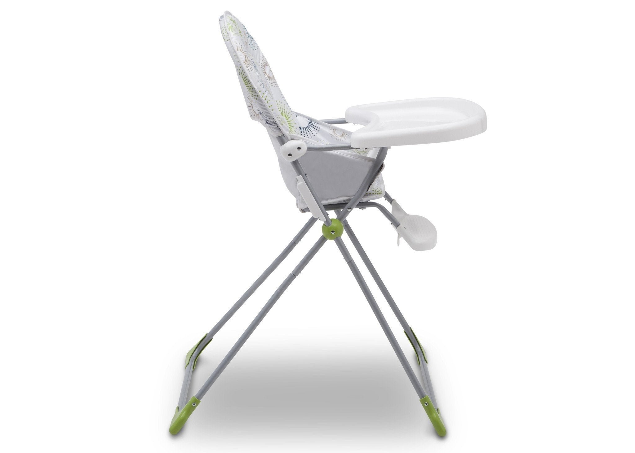 Delta Children EZ Fold High Chair Starburst (388) Adjustable Tray, Side View, a4a