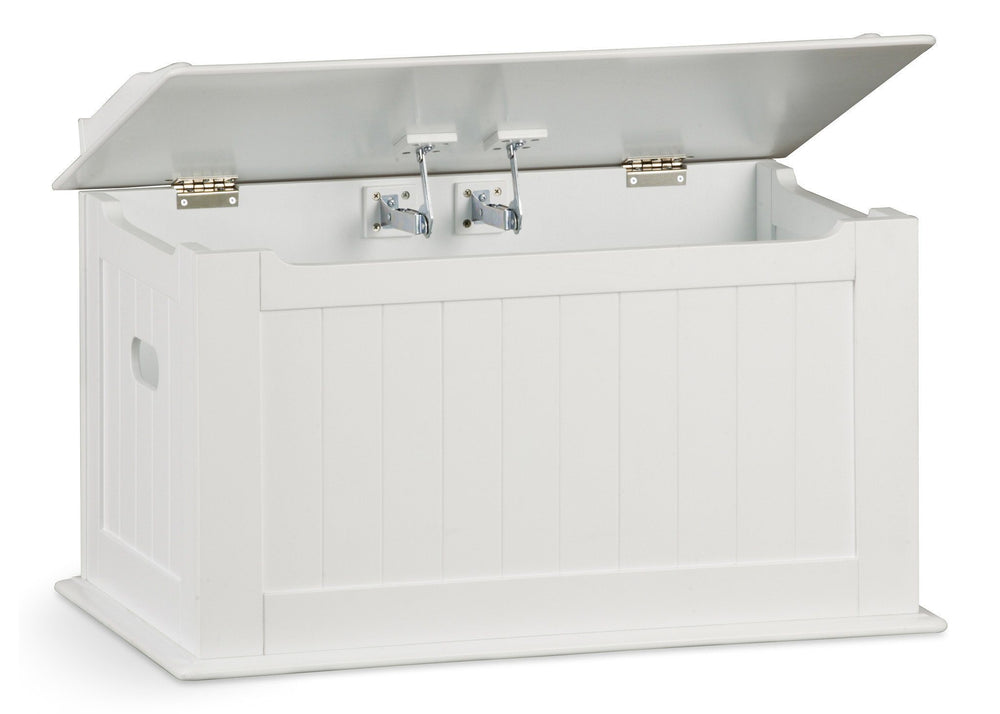 Delta Children White (100) Solutions Toy Box, Lid Detail a2a