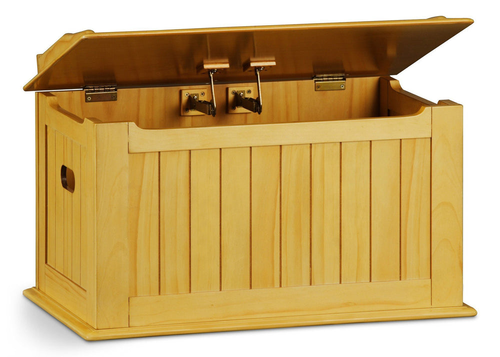 Delta Children Natural (260) Solutions Toy Box, Lid Detail b2b