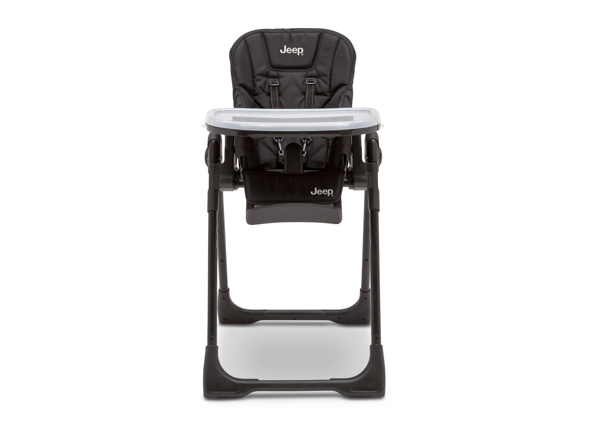 Jeep Classic Convertible High Chair for Babies and Toddlers by Delta Children, Midnight Black (2013), 5-point safety harness keeps little ones securely
