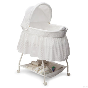 Delta Children Turtle Dove 113 Deluxe Sweet Beginnings Bassinet, Side View a1a